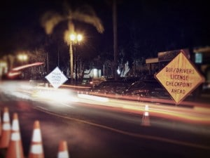 DUI Drivers License Checkpoint
