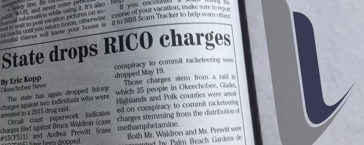 Okeechobee RICO Charges Dropped